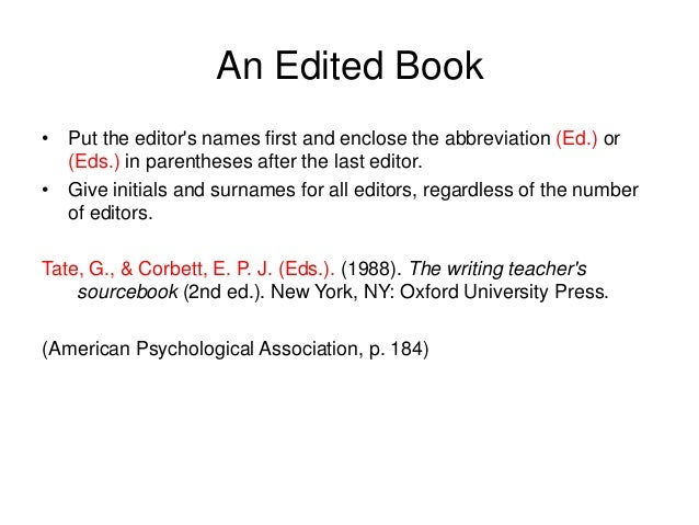 apa citation style Apa citation style from the publication manual of the american psychological association, 6th ed, 2009 copies of the handbook are available at the wgtc library.