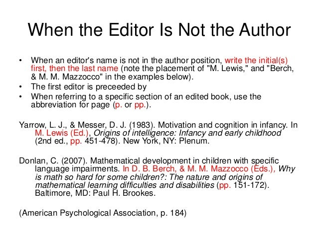 how to cite a book with an author and editor