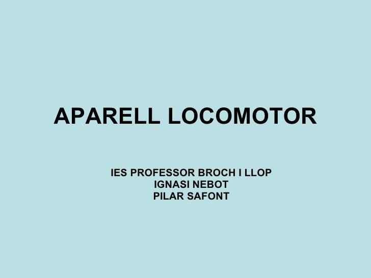 APARELL LOCOMOTOR IES PROFESSOR BROCH I LLOP IGNASI NEBOT PILAR SAFONT