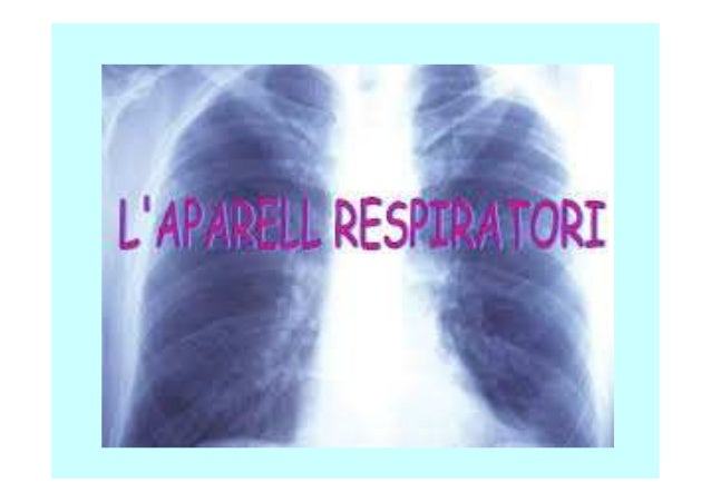 L'APARELL RESPIRATORI Funcions: •Incorporació de l'oxigen (O2). •Eliminació del diòxid de carboni (CO2). Parts: •Pulmons •...