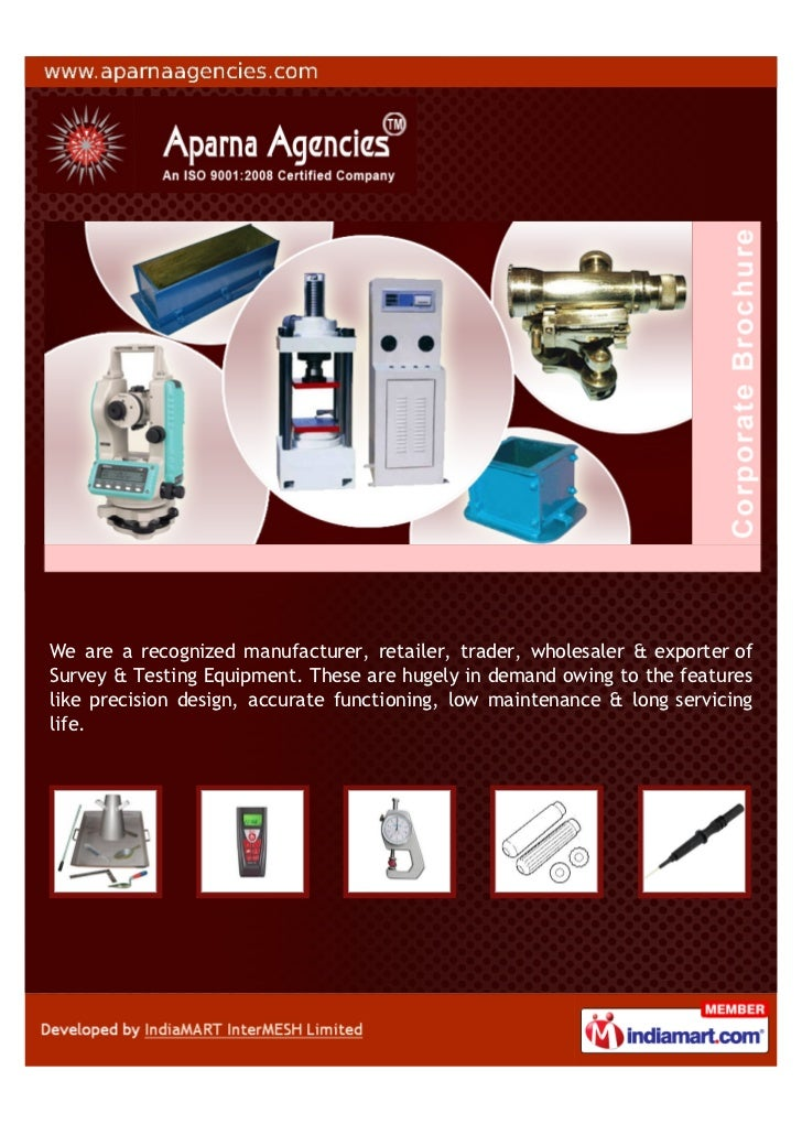 We are a recognized manufacturer, retailer, trader, wholesaler & exporter ofSurvey & Testing Equipment. These are hugely i...