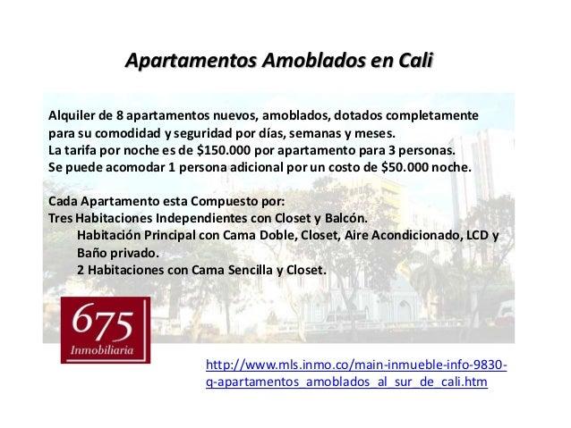 Apartamentos Amoblados en CaliAlquiler de 8 apartamentos nuevos, amoblados, dotados completamentepara su comodidad y segur...