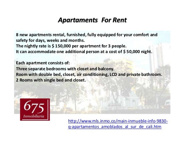 Apartaments For Rent8 new apartments rental, furnished, fully equipped for your comfort andsafety for days, weeks and mont...