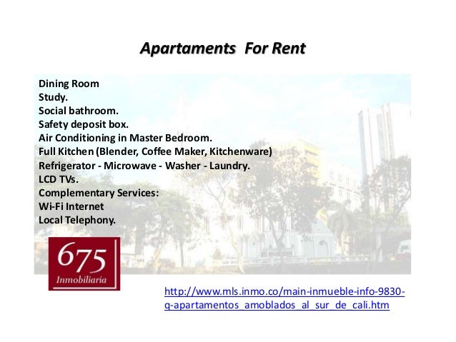 Apartaments For RentDining RoomStudy.Social bathroom.Safety deposit box.Air Conditioning in Master Bedroom.Full Kitchen (B...