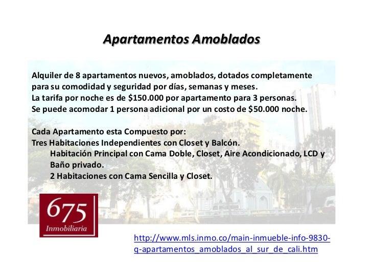 Apartamentos AmobladosAlquiler de 8 apartamentos nuevos, amoblados, dotados completamentepara su comodidad y seguridad por...
