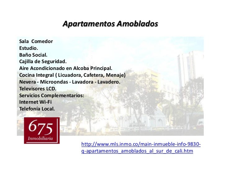 Apartamentos AmobladosSala ComedorEstudio.Baño Social.Cajilla de Seguridad.Aire Acondicionado en Alcoba Principal.Cocina I...