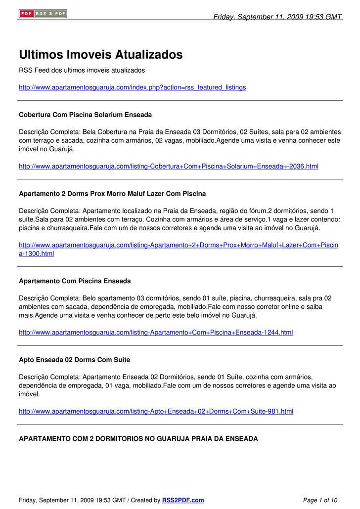 Friday, September 11, 2009 19:53 GMT     Ultimos Imoveis Atualizados RSS Feed dos ultimos imoveis atualizados  http://www....