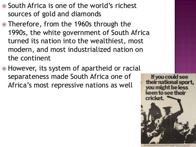 An overview of the history of apartheid system in the government of africa
