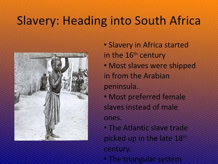 slavery the main cause of the