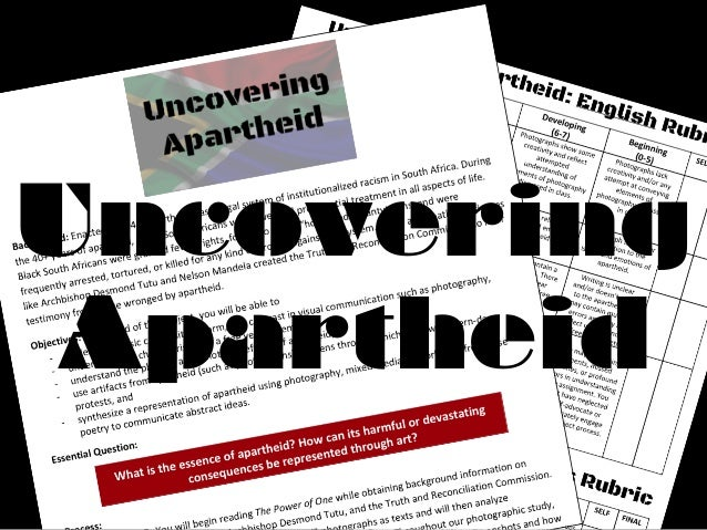 Uncovering Apartheid