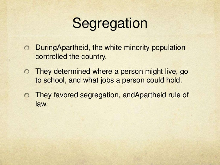 an introduction to apartheid in south africa - the word apartheid comes in two forms, one being the system of racial segregation in south africa, and the other form is the form that only those who were affected by apartheid can relate to, the deeper, truer, more horrifying, saddening and realistic form.