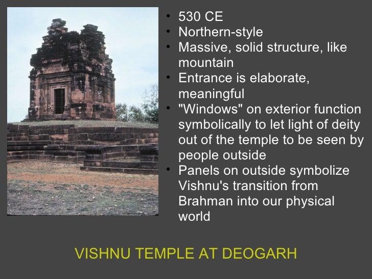 VISHNU TEMPLE AT DEOGARH <ul><ul><li>530 CE </li></ul></ul><ul><ul><li>Northern-style </li></ul></ul><ul><ul><li>Massive, ...