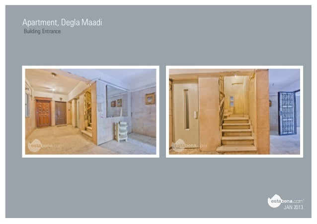 JAN 2013 Apartment, Degla Maadi Building Entrance ...