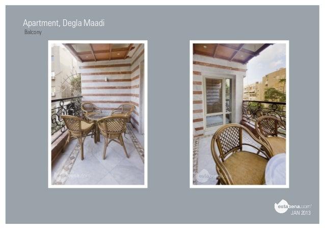JAN 2013 Apartment, Degla Maadi Balcony ...