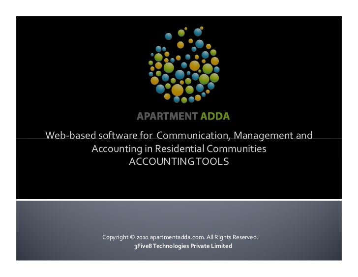 Web-based software for Communication, Management and         Accounting in Residential Communities                 ACCOUNT...