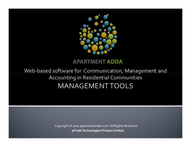 Web-based software for Communication, Management and         Accounting in Residential Communities              MANAGEMENT...