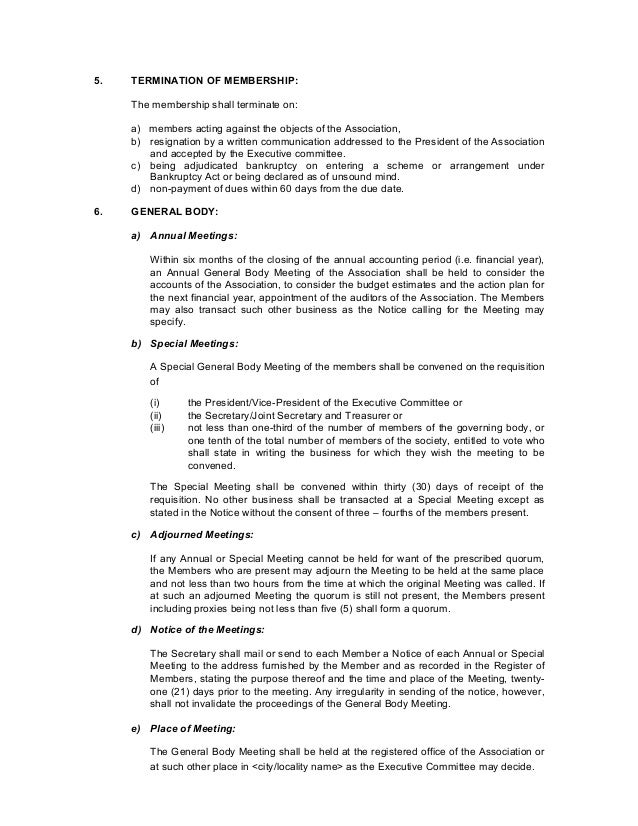 Apartment association byelaws template 5 spiritdancerdesigns Choice Image