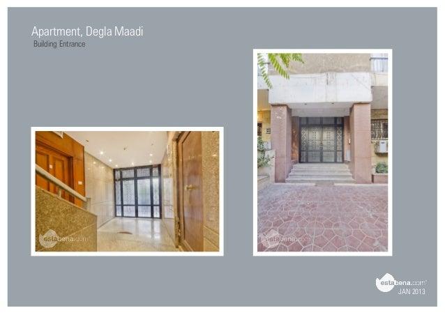 Charming JAN 2013 Apartment, Degla Maadi Building Entrance ...