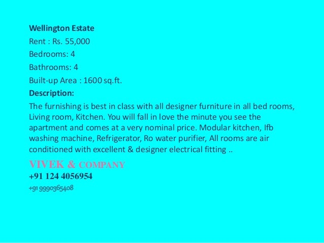 2 / 3 / 4 / Bedroom BHK Apartment for Rent in Gurgaon
