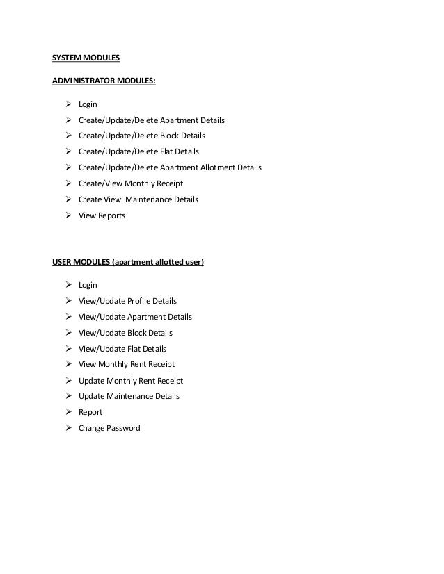 Apartment Management System Web Application Project