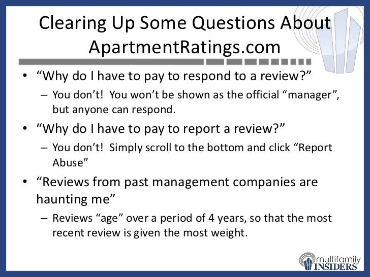 Appartment Reviews