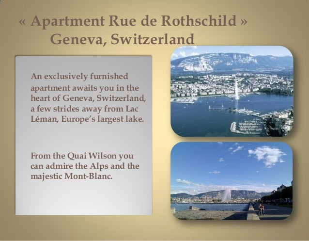 « Apartment Rue de Rothschild »    Geneva, Switzerland An exclusively furnished apartment awaits you in the heart of Genev...