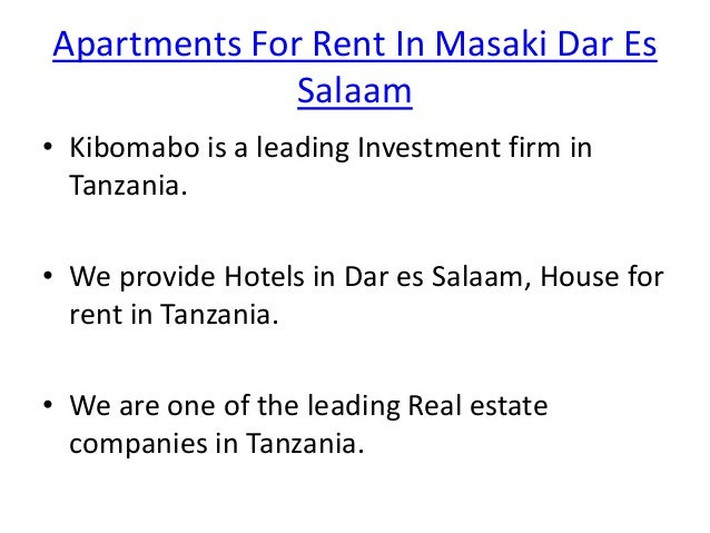 Apartments For Rent In Masaki Dar Es Salaam | House For Rent In Mikoc…