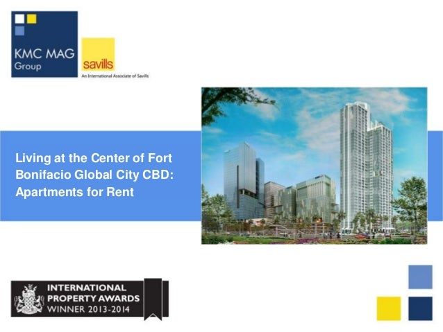 Living at the Center of Fort Bonifacio Global City CBD: Apartments for Rent