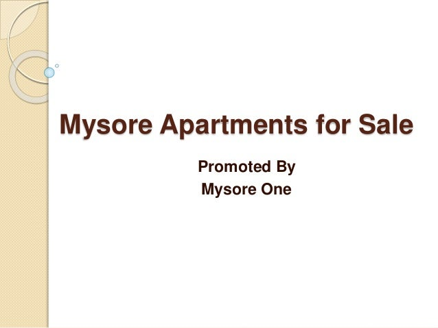 Luxury Apartments for Sale in Mysore