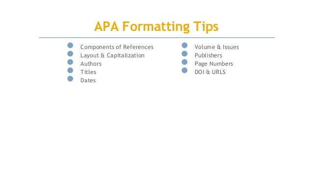APA Citation Formatting