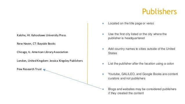 8 publishers located on the title page