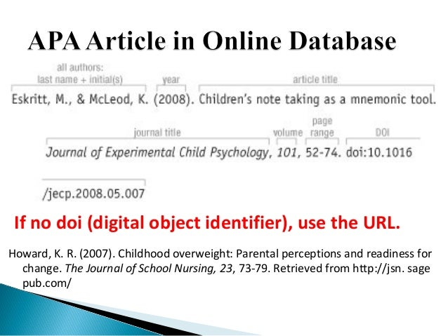 doi apa style Umuc library: apa with doi and without doi tutorial - duration:  apa style reference list: how to reference journal articles - duration: 3:59 memorial university libraries 77,446 views.
