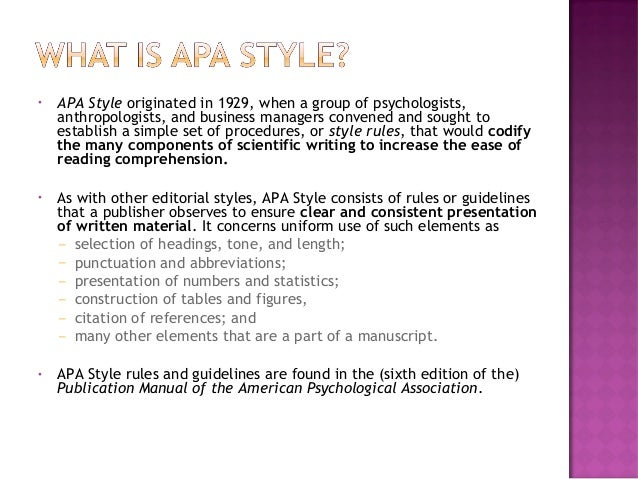 the basics of apa style  6th edition