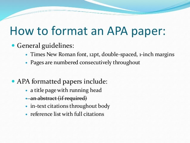 An Example Of An Essay In Apa Format