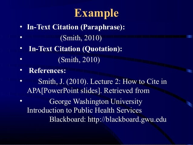 Apa Format For Powerpoint Presentations Reference Narsu