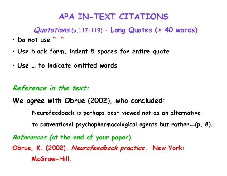 how to cite a famous quote in apa style