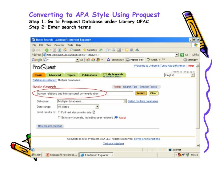 apa style converter Brief guide to using apa style based on the publication manual of the american psychological association 6th ed a copy of the manual can be found at the cooper library reference desk and in the reference stacks.