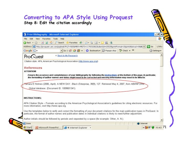 converting to apa format Apa (american psychological association) style is most commonly used to cite sources within the social sciences this resource, revised according to the 6th edition.