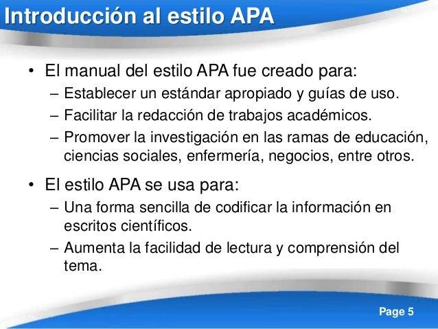 Manual estilo APA en español 6ta edición 2016