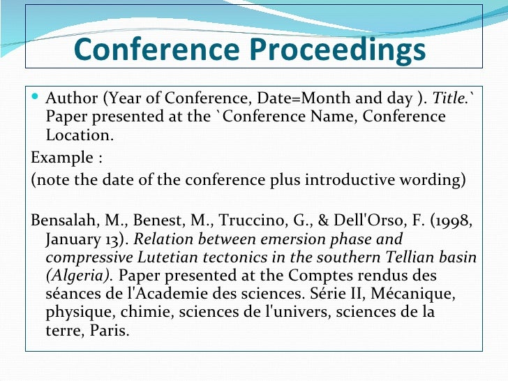 How to Cite a Conference Paper in MLA 7