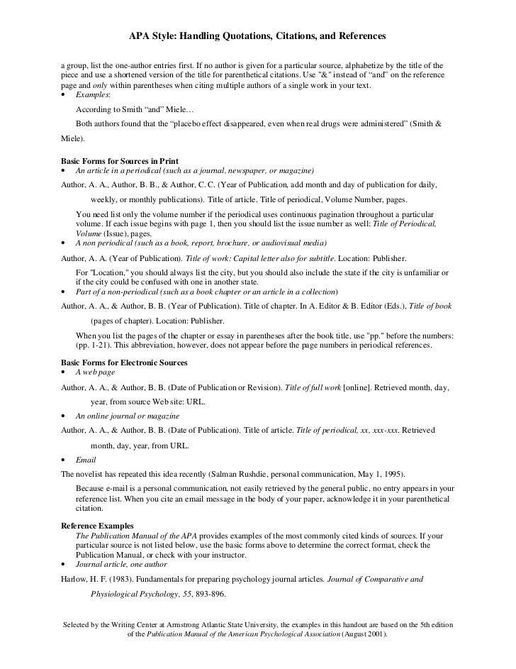 apa format citation