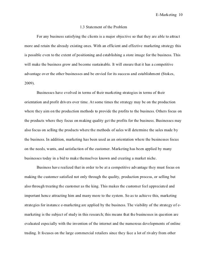 General Rules for Writing a Proper Dissertation Problem Statement