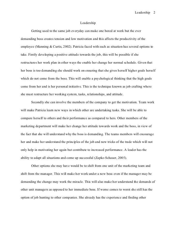 Leadership Essay Conclusion  Leadership Essay Free Example Leadership Essay Conclusion