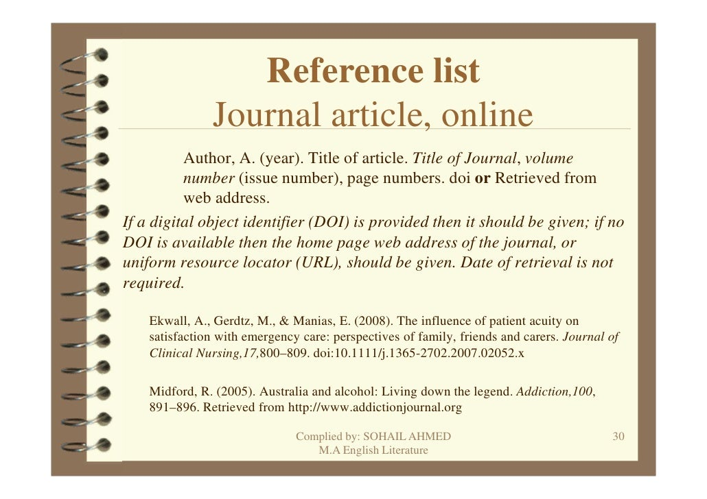 referencing a journal within an essay 'harvard referencing' (so-called for having originated at harvard university) is another term for parenthetical citation, where sources are cited within brackets in the main text of an essay.