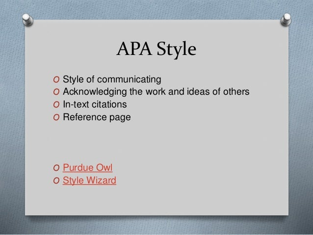 apa style wizard Bibme's free apa format guide & generator what is apa apa stands for the american psychological association, which is an organization that focuses on psychologythey are responsible for creating this specific citation style.