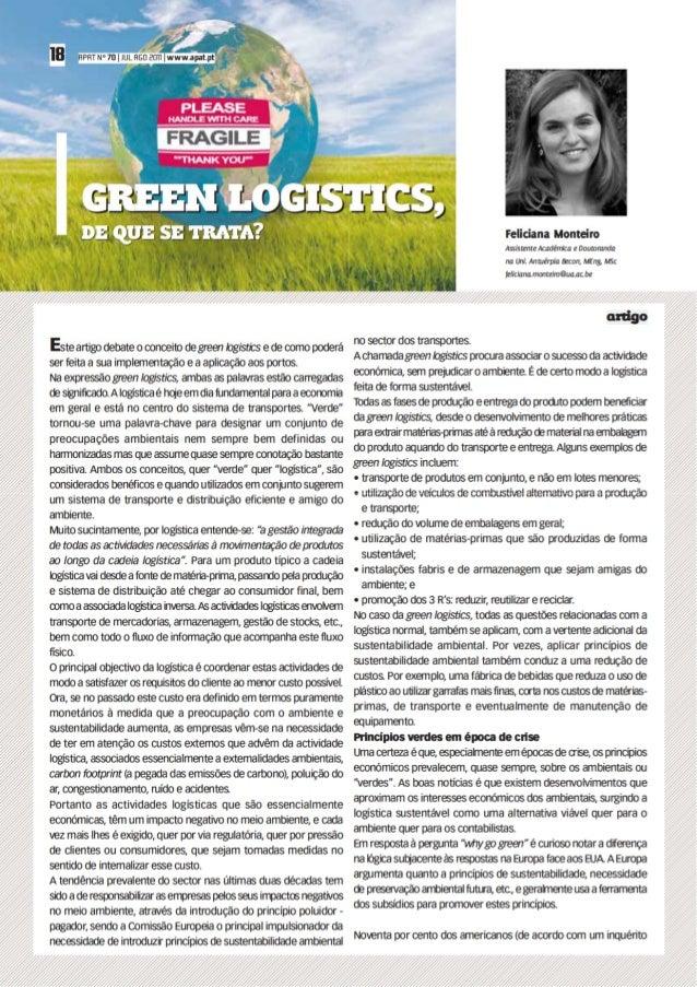 Green Logistics, de que se trata?