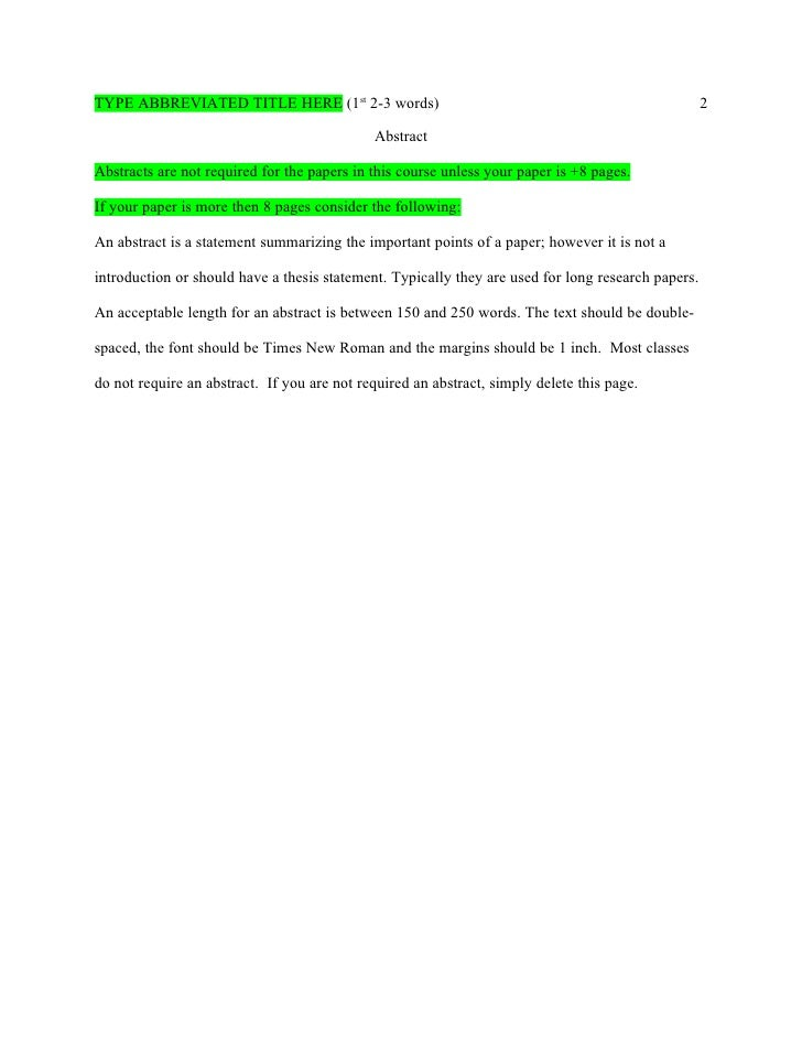 apa pages template