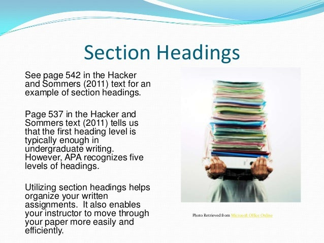 Sample APA Research Paper - Write Source