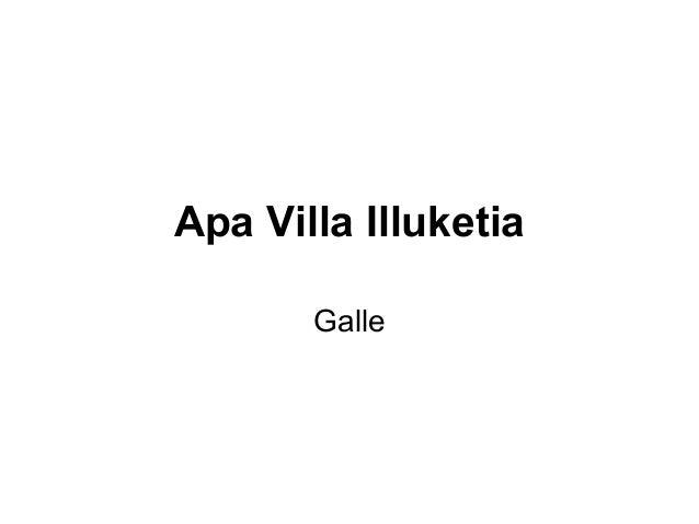 Apa Villa Illuketia Galle