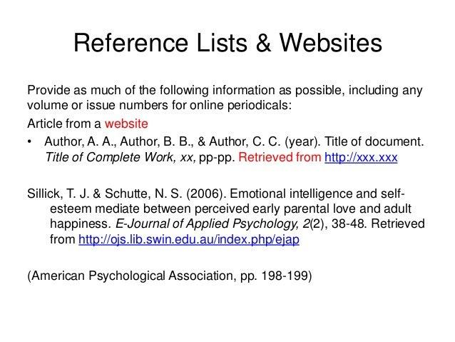 apa web documents 6th ed